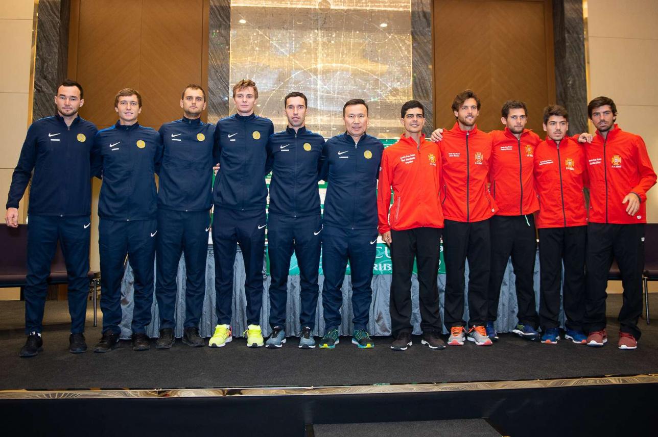Казахстанские и португальские теннисисты