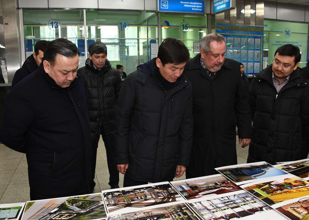 Байбек ознакомился с планом реконструкции вокзала