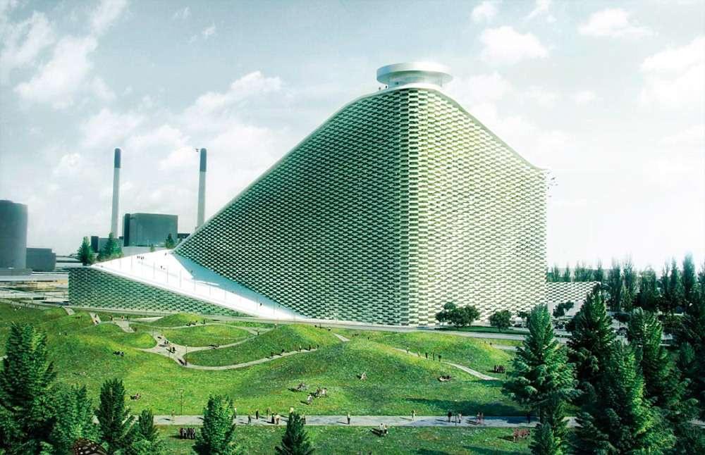 Мусоросжигающий завод в Дании