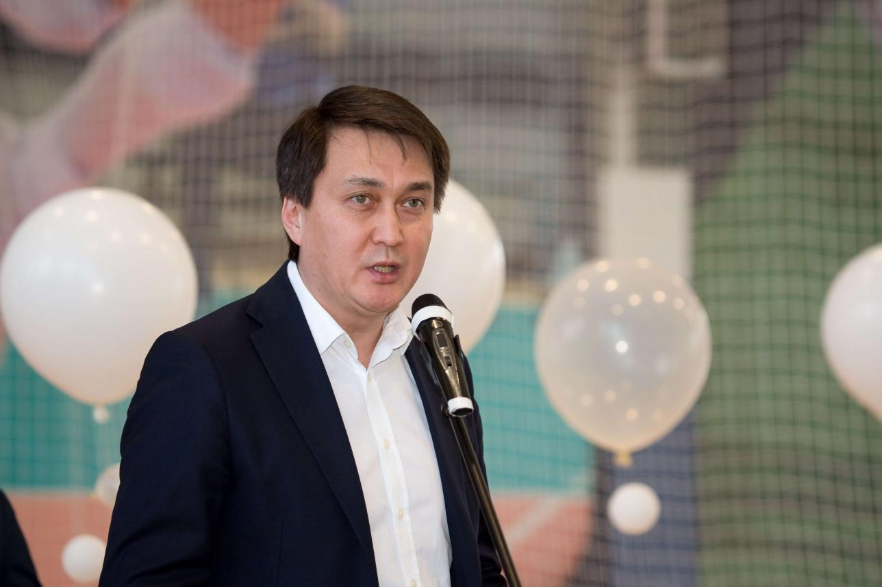 Ерлан Оспанов на открытии спортцентра