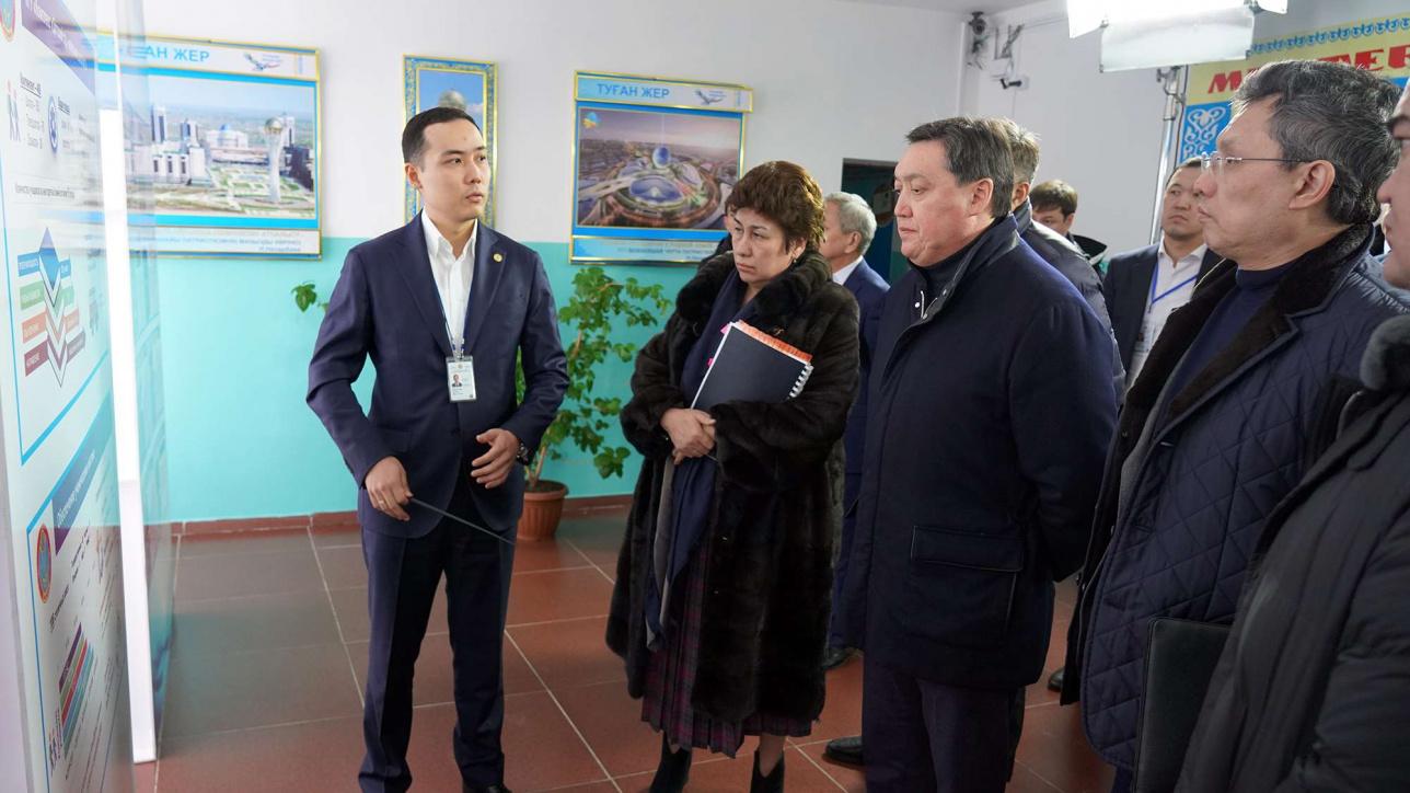 Премьер-министр посетил населённые пункты близ Астаны