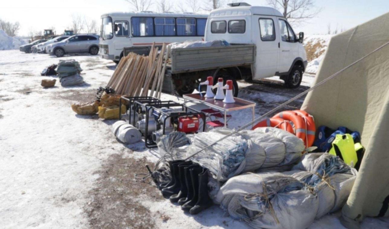 Подготовка к паводку в Карагандинской области