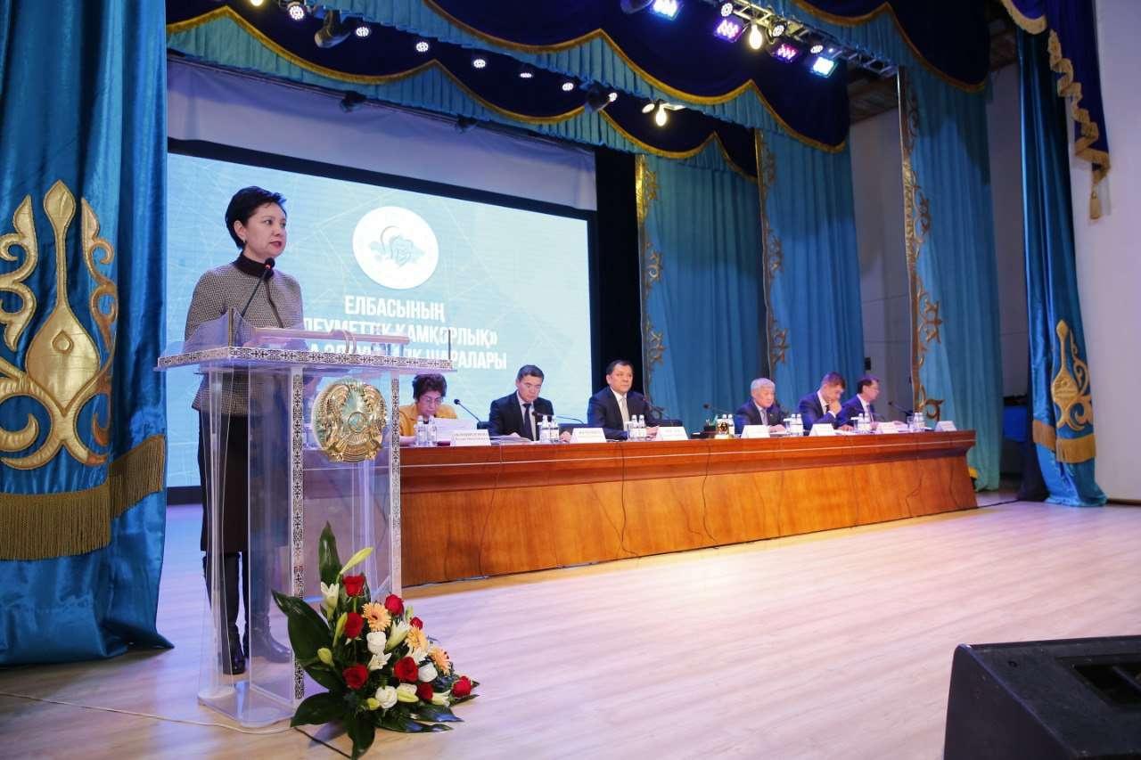 Гульшара Абдыкаликова рассказала о работе по улучшению качества жизни жителям Атырауской области