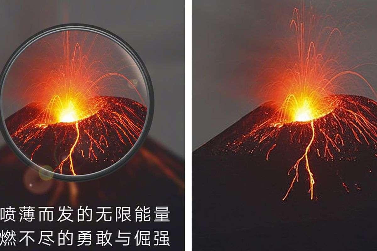 кадр с рекламы Huawei, справа — стоковое фото на Getty Images