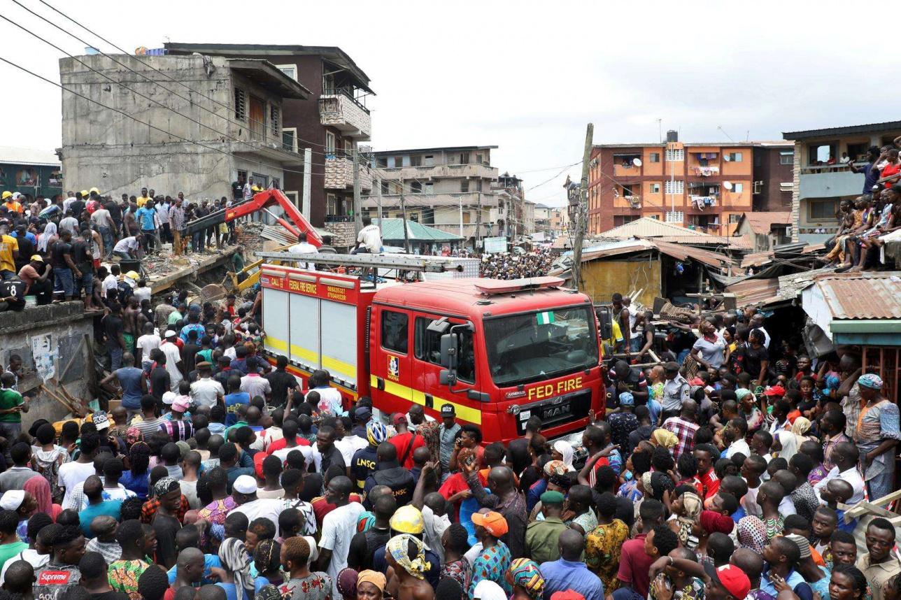 Обрушение здания школы в Нигерии