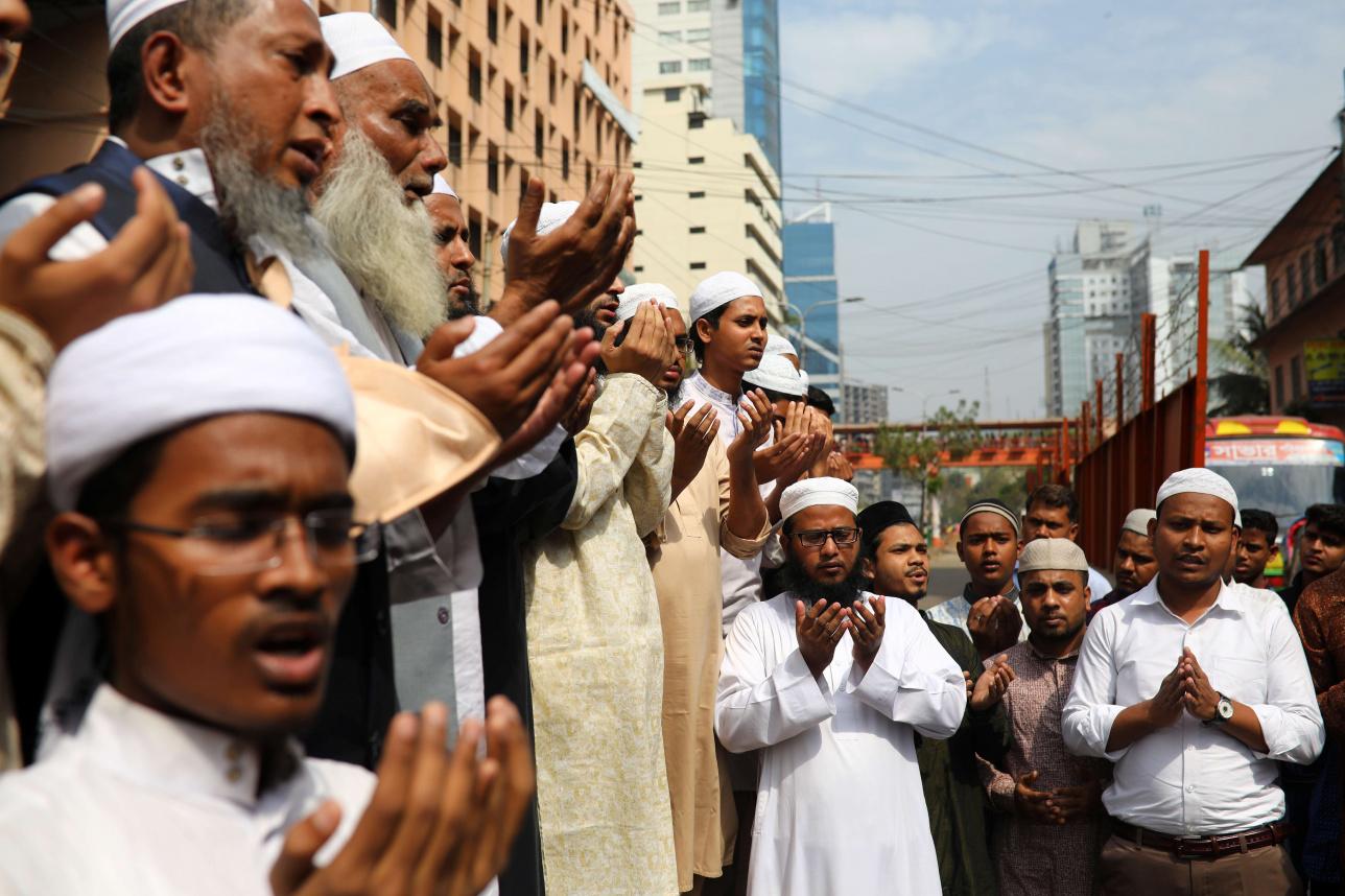 Мусульмане в Крайстчёрче молятся за жертв теракта
