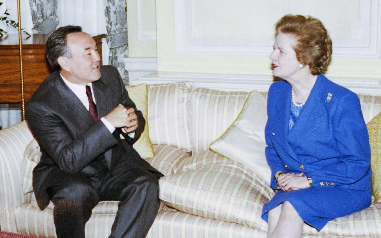 Встреча Первого Президента РК Назарбаева с Маргарэт Тэтчер