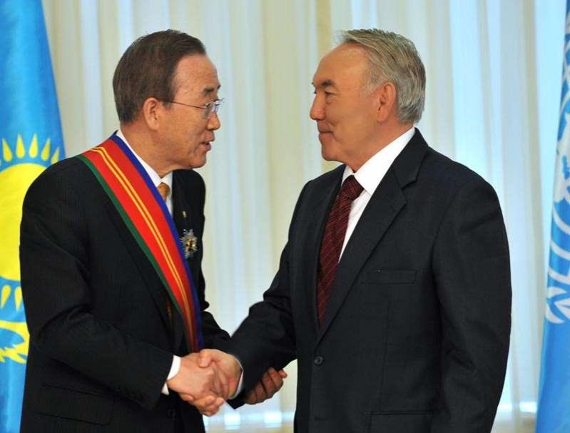 Пак Ги Мун встречается с Нурсултаном Назарбаевым
