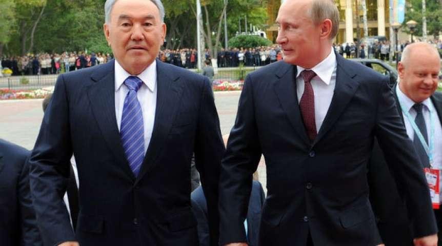 Назарбаев и Путин в 2018 году