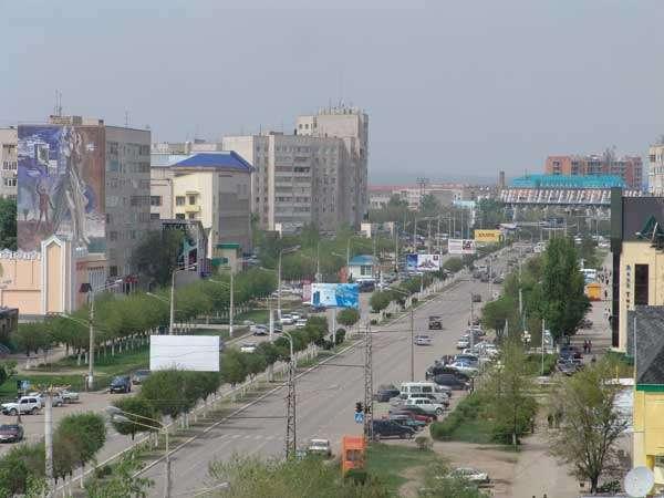 Будущий проспект Назарбаева в Актобе