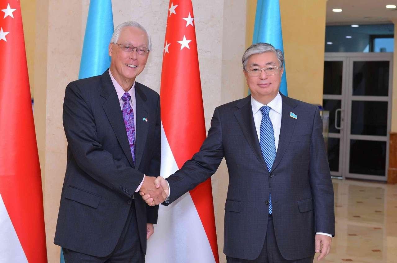 Встреча Го Чок Тонга и Касым-Жомарта Токаева. 2016 г.