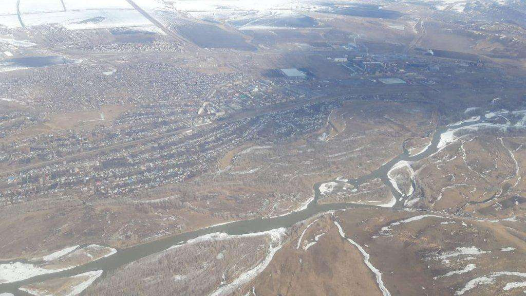 Облёт русла рек во время паводка 2019 года