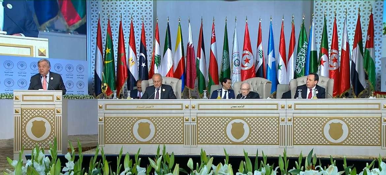 Генеральный секретарь ООН Антониу Гутерриш выступил на открытии саммита Лиги арабских государств