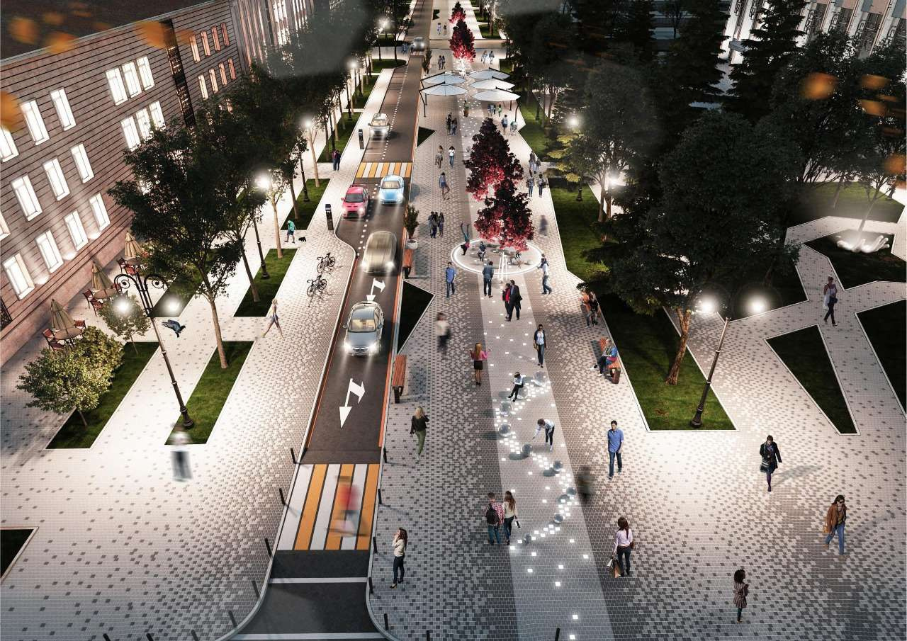 Проект реконструкции улицы Жибек Жолы (от Желтоксан до Сейфулина)