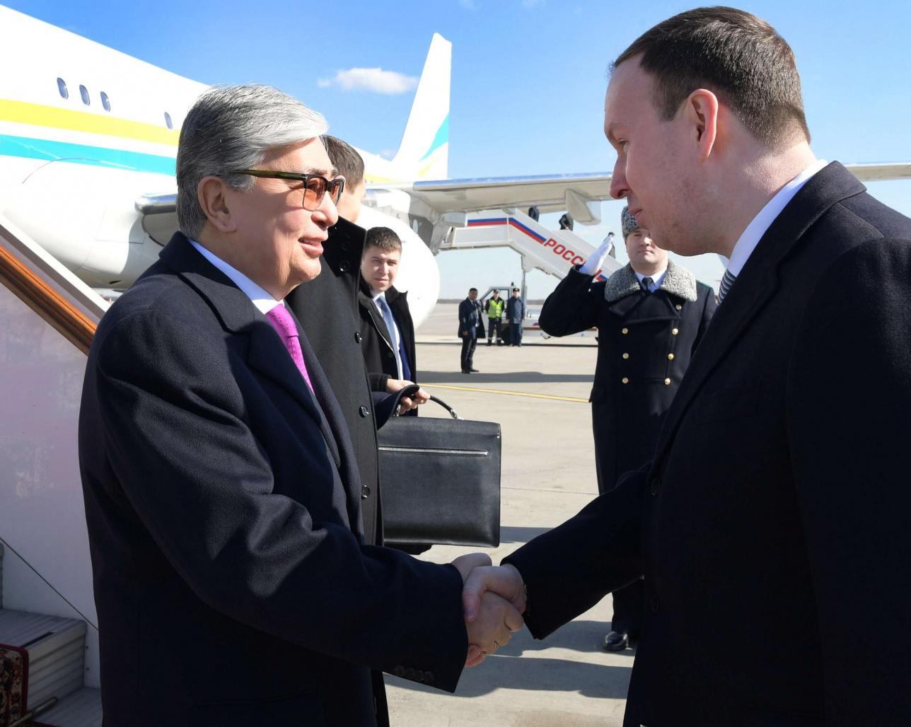 Первый официальный визит Токаева в Россию