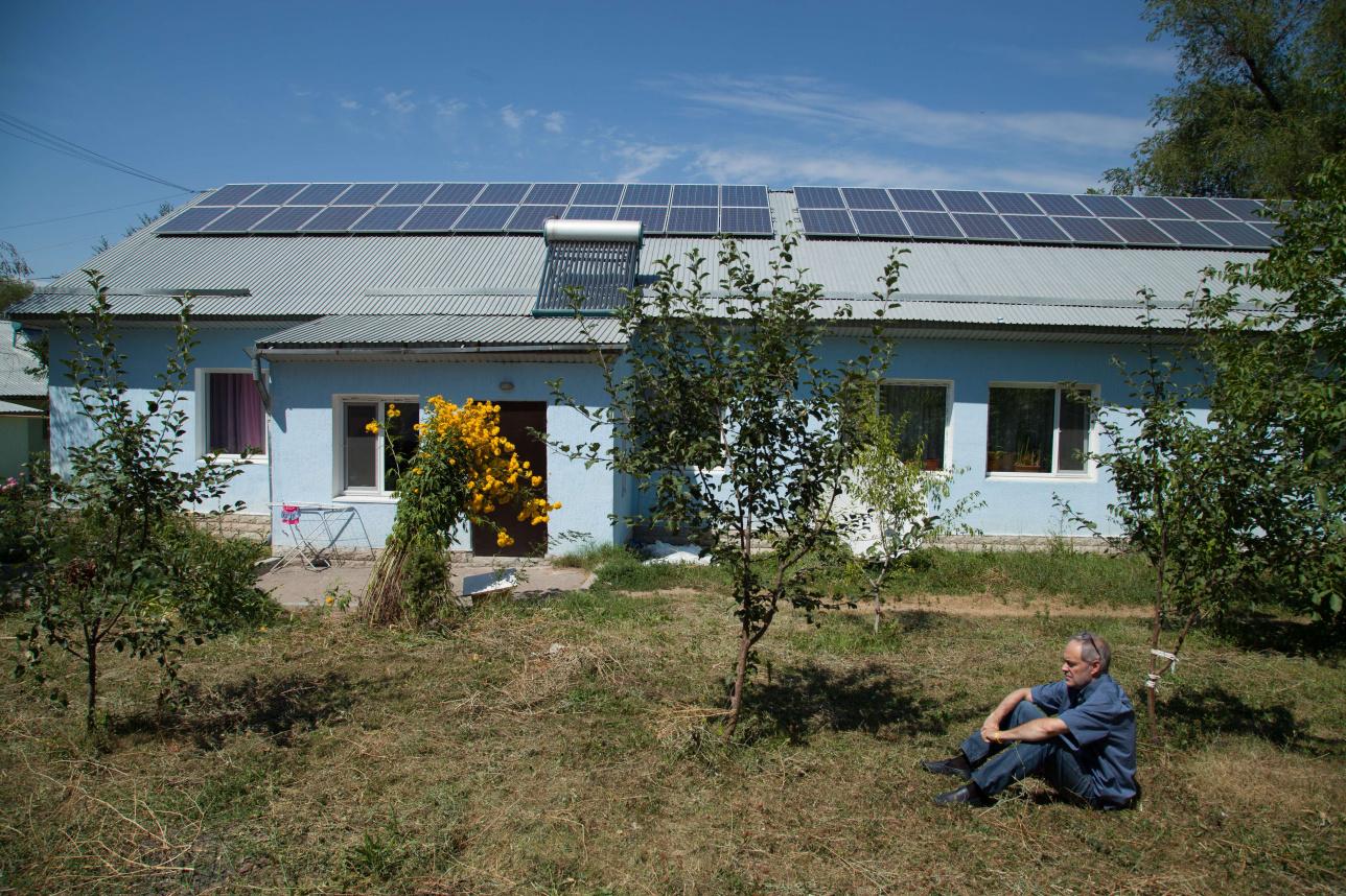 """Солнечные панели на крыше """"Ковчега"""""""
