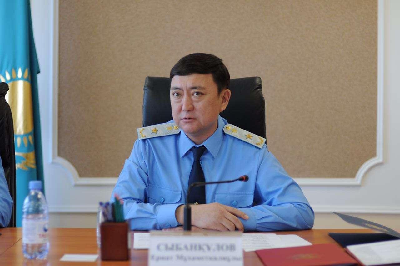 Главный транспортный прокурор Ернат Сыбанкулов