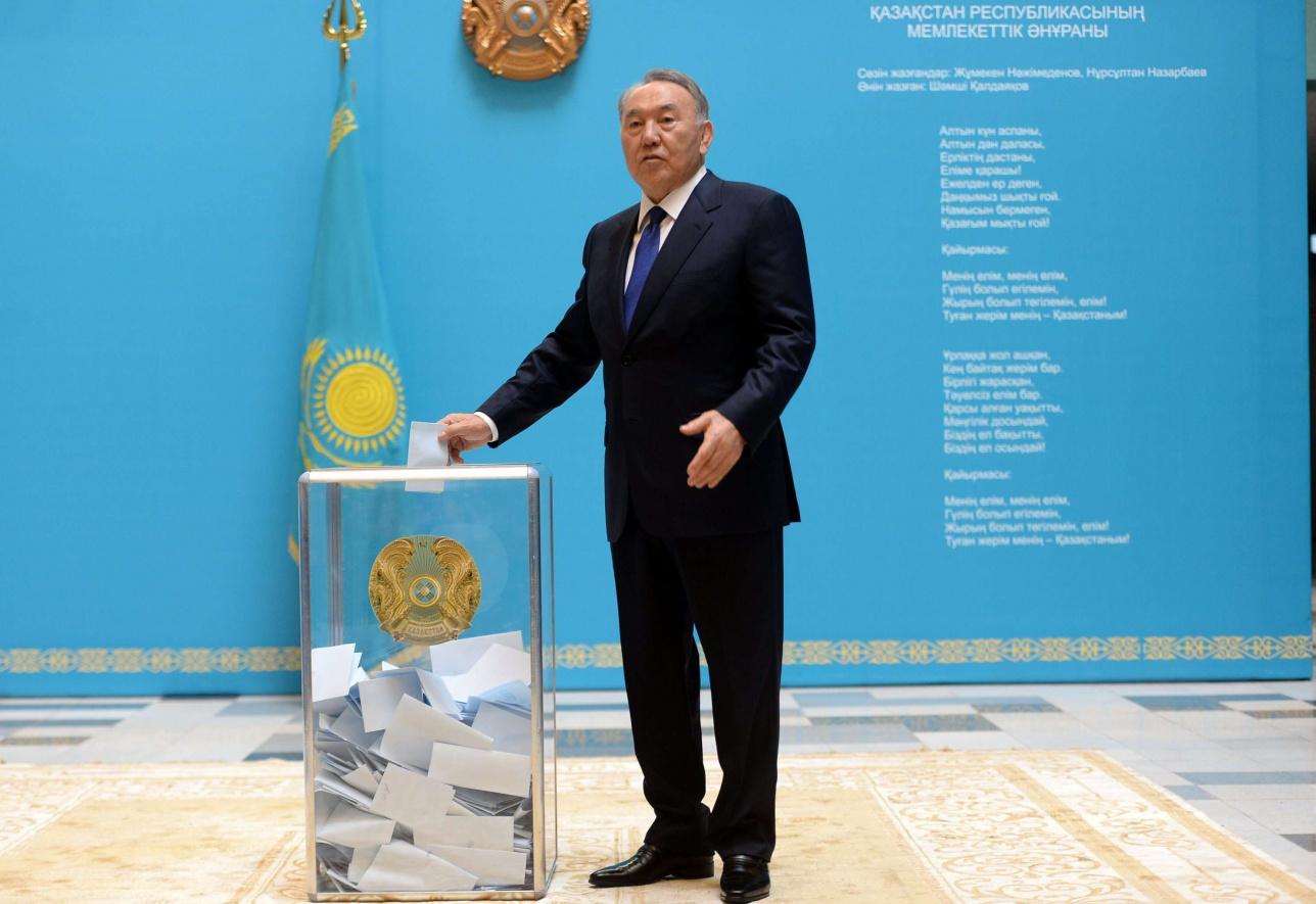 Нурсултан Назарбаев на выборах 2015 года