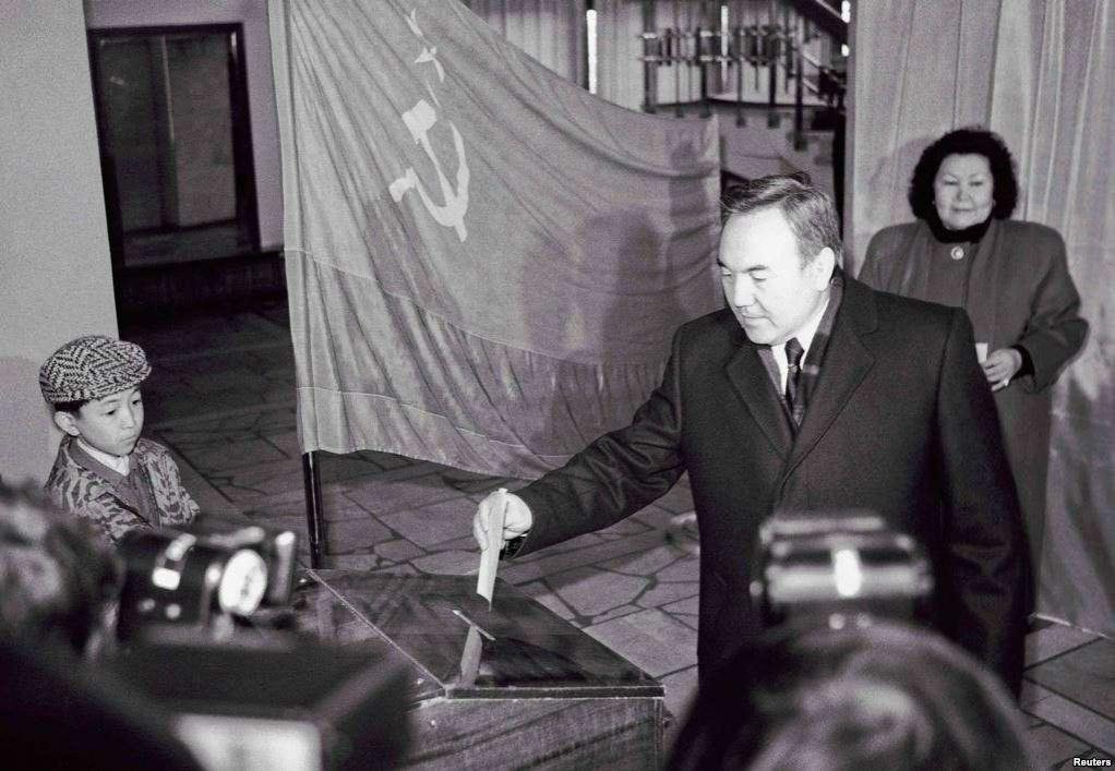 Нурсултан Назарбаев на выборах 1991 года