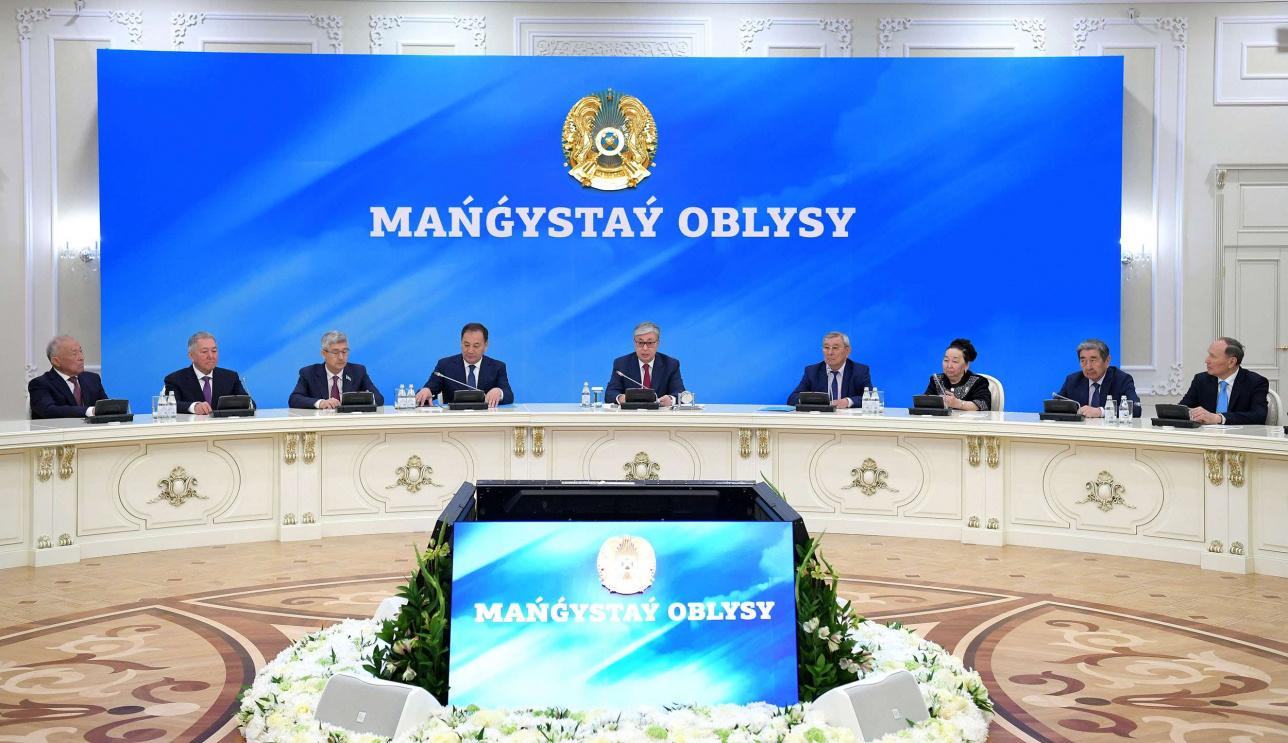 Касым-Жомарт Токаев на встрече с общественностью Мангистау