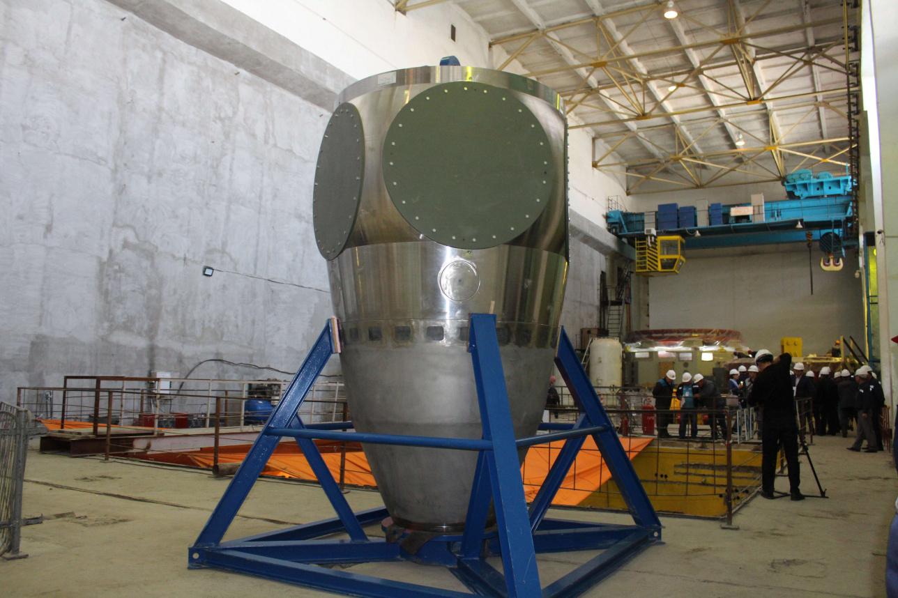 Турбина третьего гидроагрегата, который только начнут устанавливать