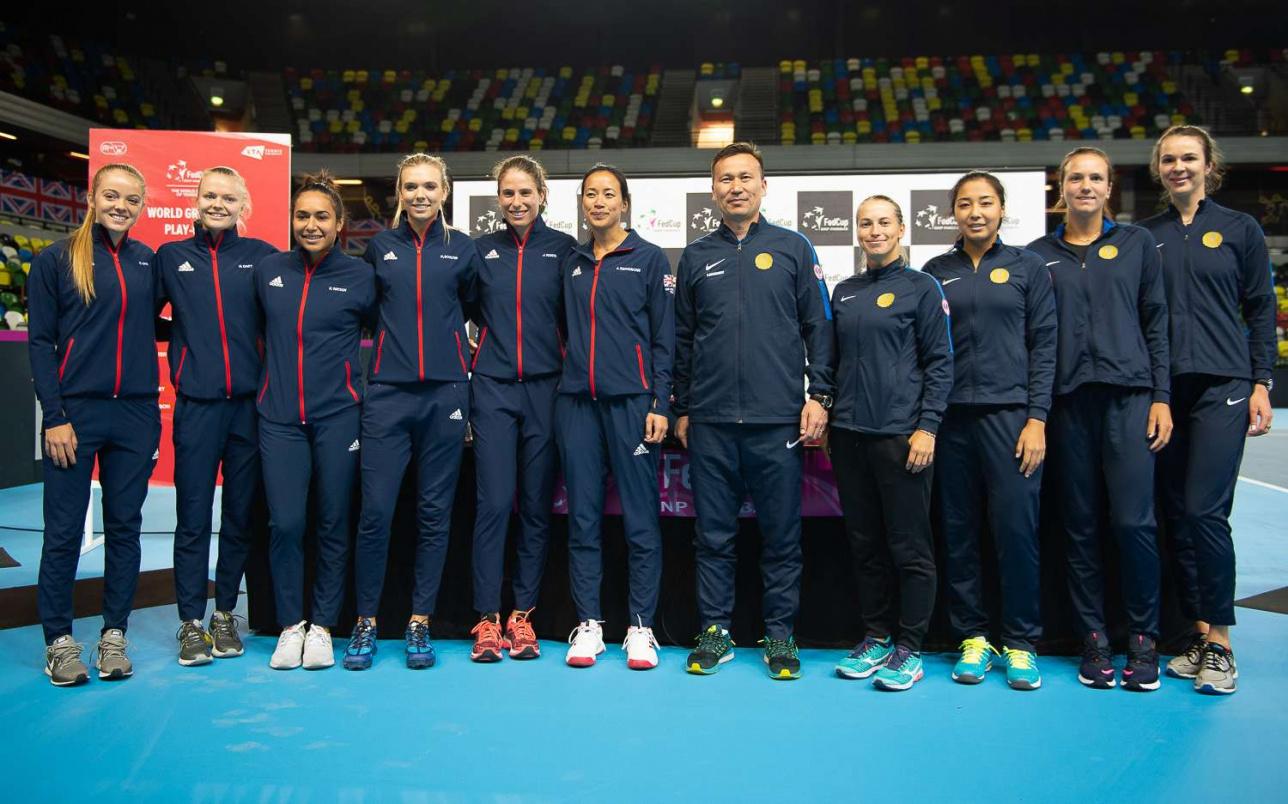 Английские и казахстанские теннисистки на жеребьёвке
