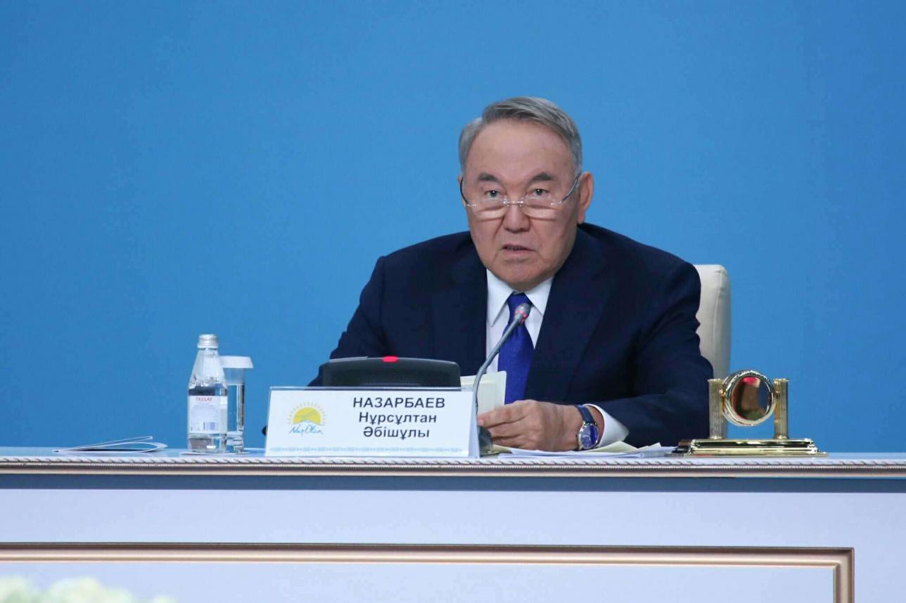 Нұрсұлтан Назарбаев съезде