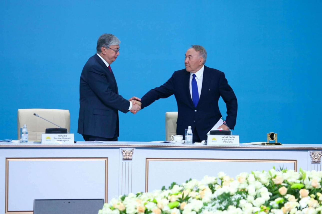 Назарбаев Тоқаевті құттықтады