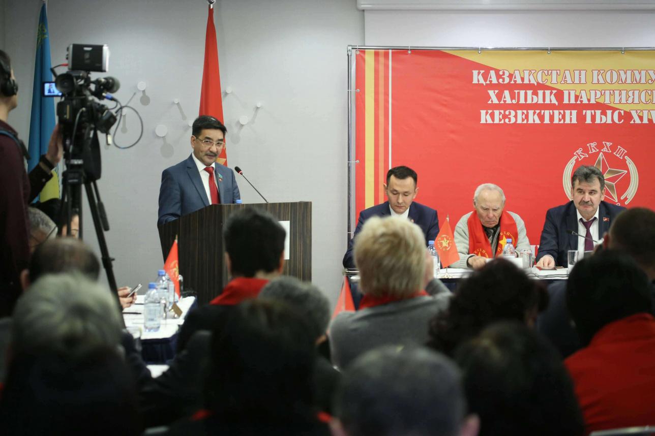 Кандидат в президенты от КНПК Жамбыл Ахметбеков