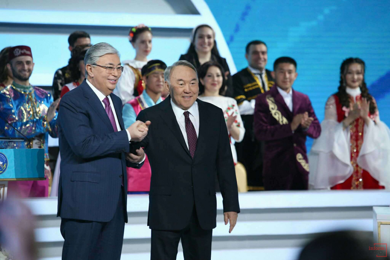 Назарбаев и Токаев на сессии Ассамблеи народа Казахстана