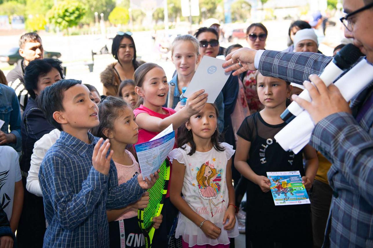 В конце мероприятия организаторы провели викторину среди детей