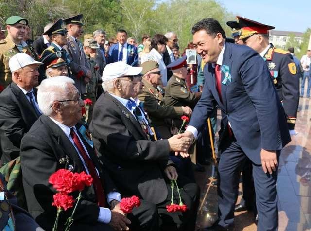 Празднование Дня победы в Павлодаре