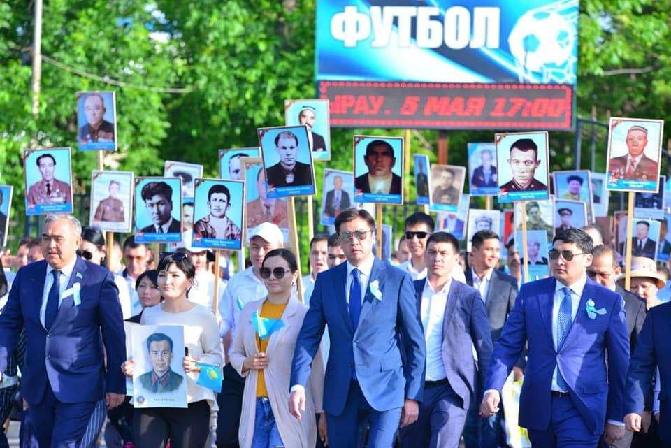 Празднование Дня победы в Шымкенте