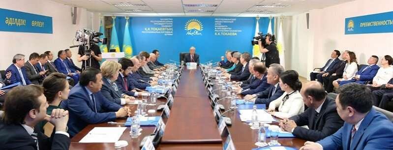 Токаеву рассказали о старте агитационного этапа электоральной кампании