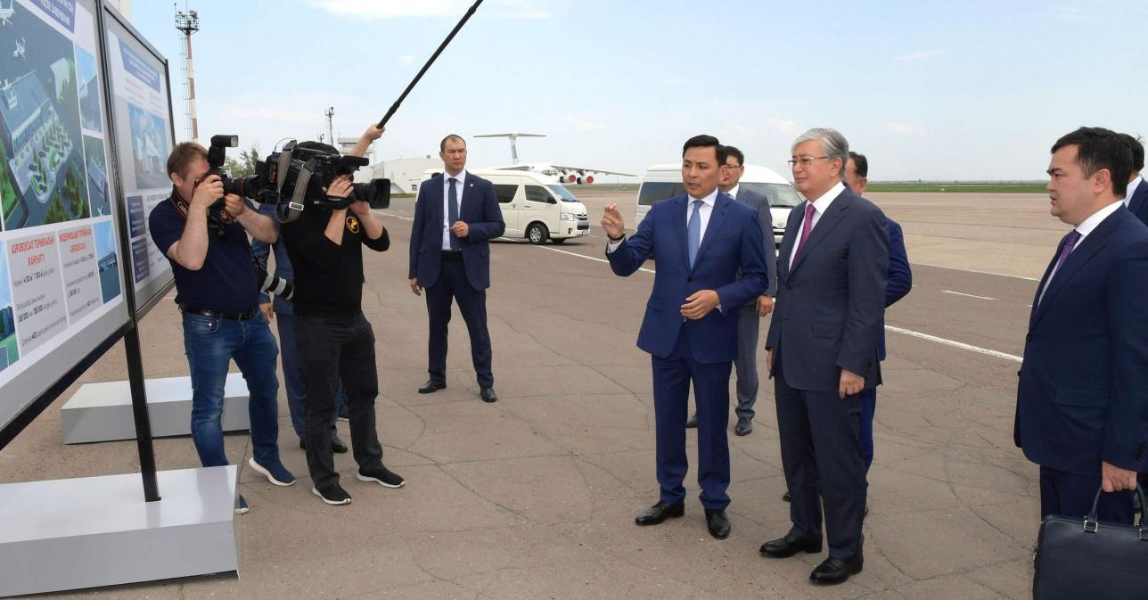 Токаеву презентовали проект модернизации аэропорта Уральска
