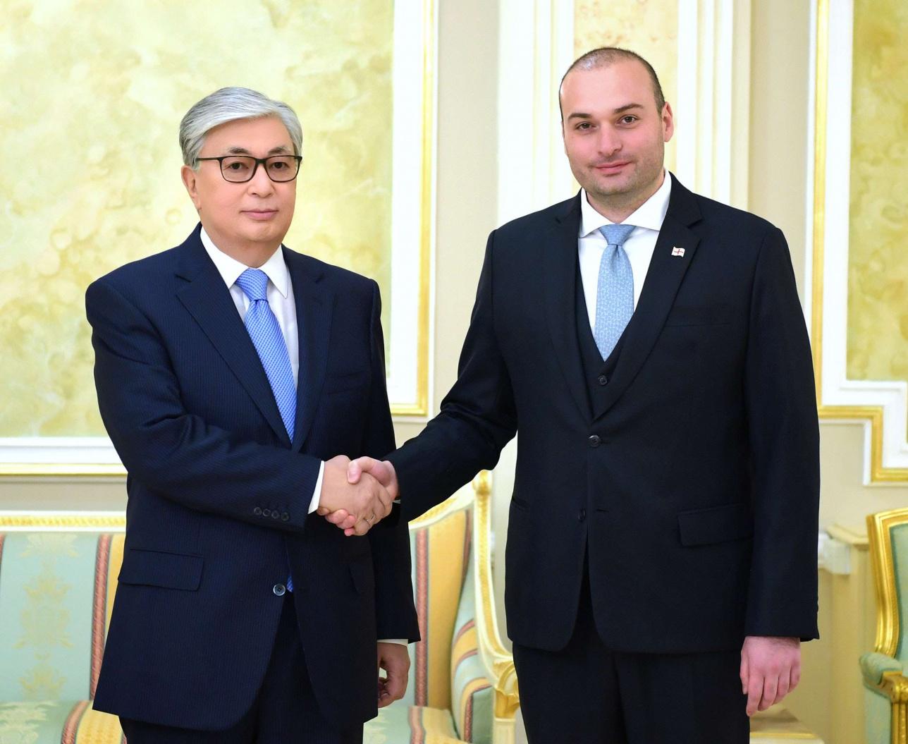 Токаев принял в Акорде премьер-министра Грузии