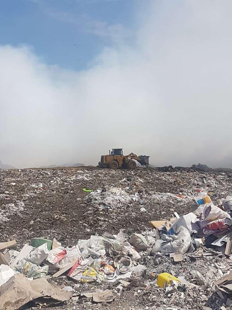 Возгорание на мусорном полигоне