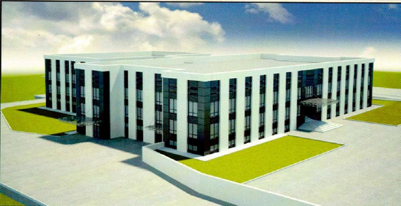 Эскиз здания паталогоанатомического бюро