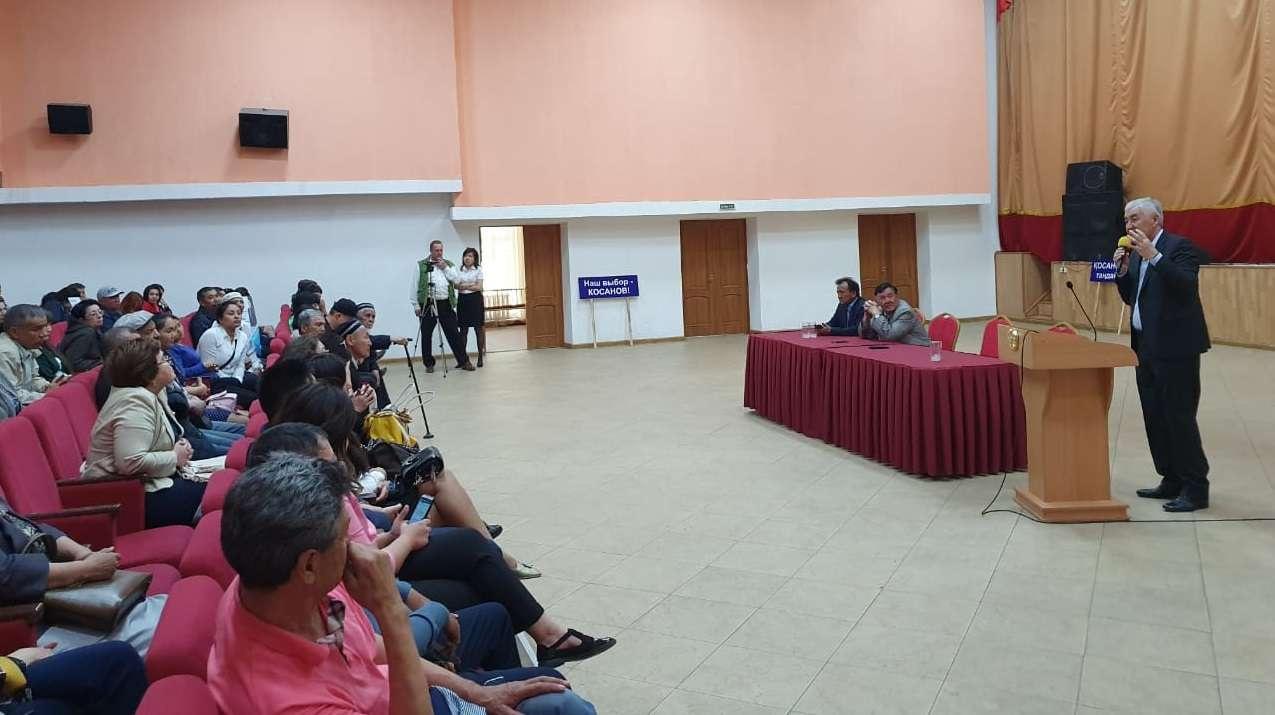 Встреча штаба Косанова с избирателями в Аксу
