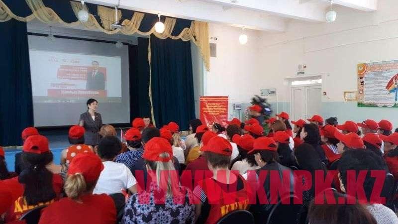 Встреча штаба Ахметбекова с избирателями в Текели