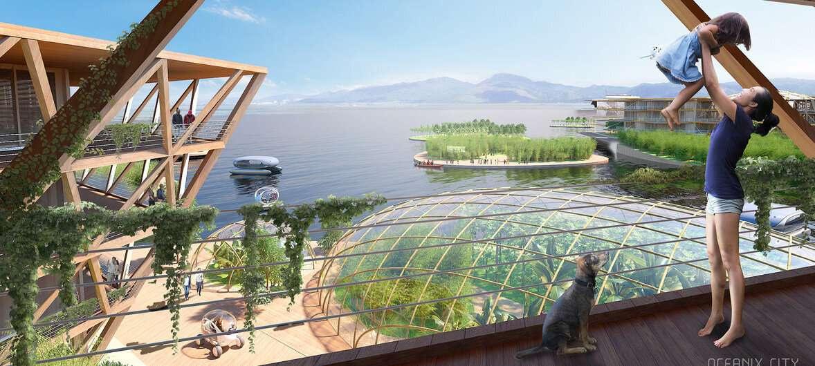 Жители плавающих городов будут использовать возобновляемые источники энергии