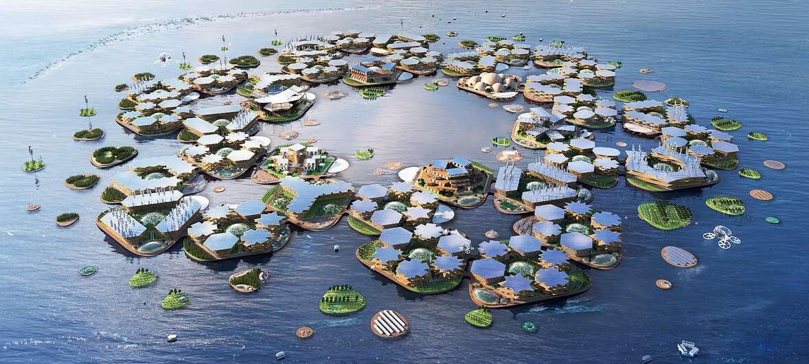 Плавающий город – искусственно созданная группа островов, свободно дрейфующая в океане