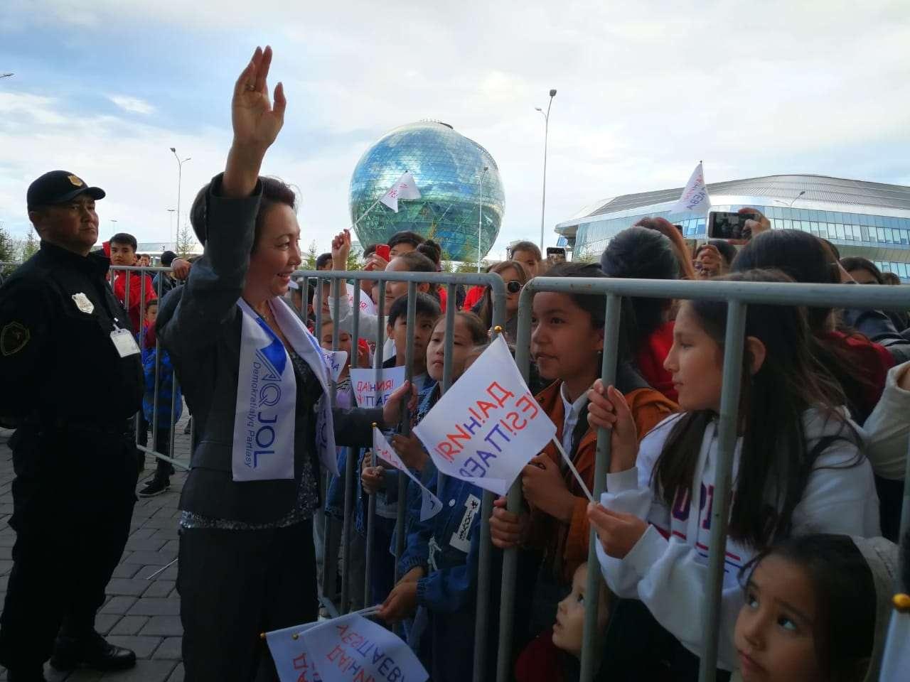 Сторонники кандидата в президенты Дании Еспаевой провели концерт в столице
