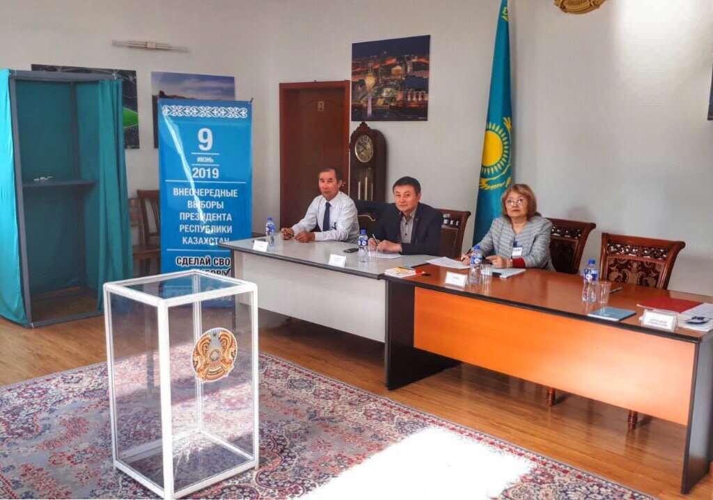 Избирательный участок в Улан-Баторе