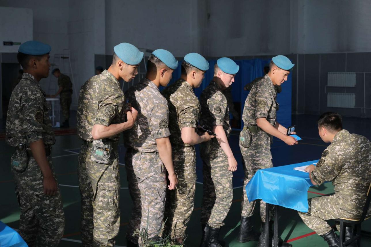 Голосование в Военном институте сухопутных войск