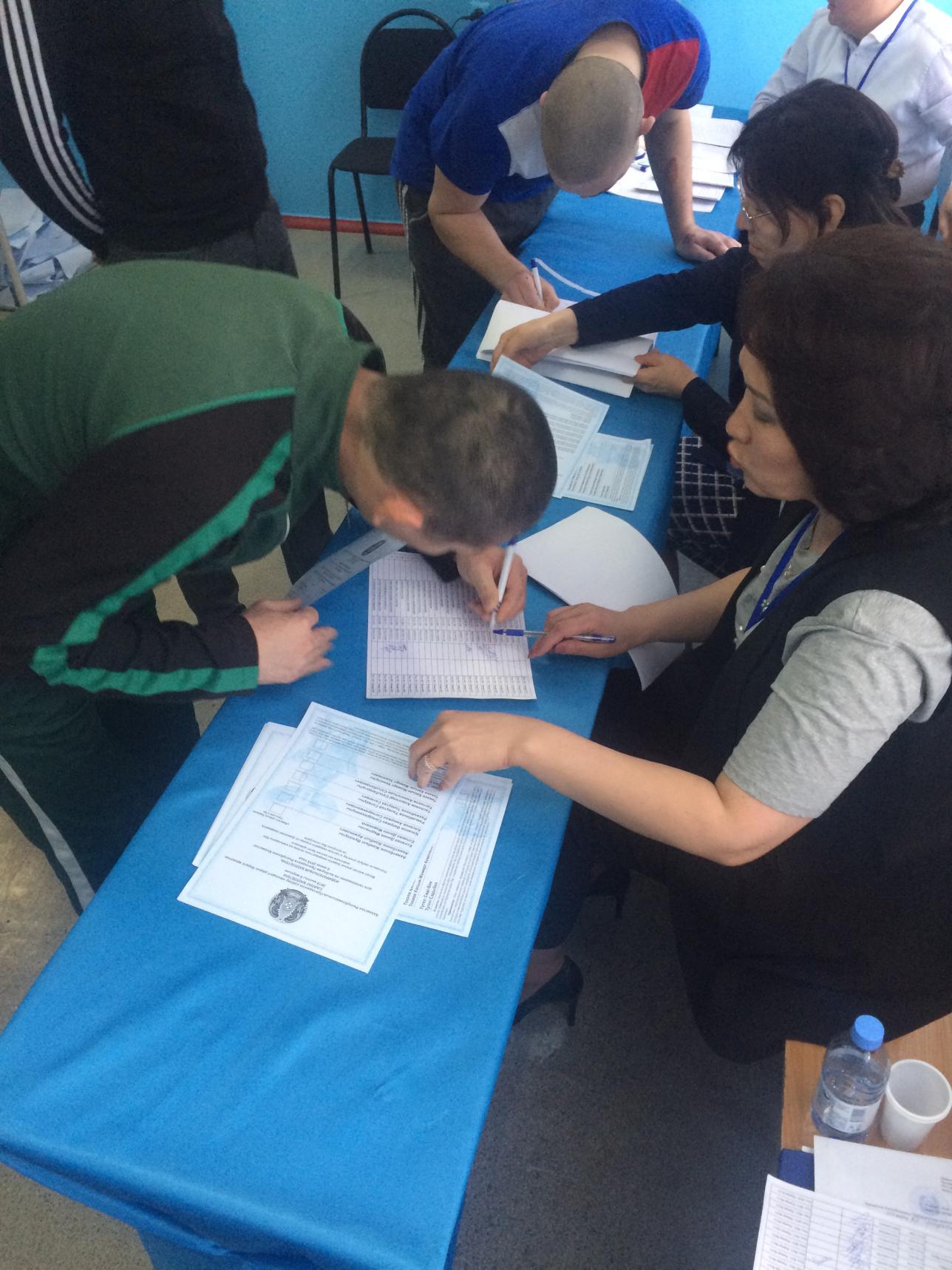 Выборы в СИЗО ЛА-155/18 в Алматы