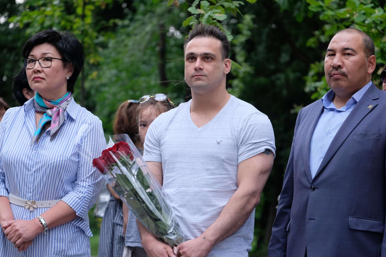 Жания Аубакирова, Илья Ильин и Ермахан Ибраимов