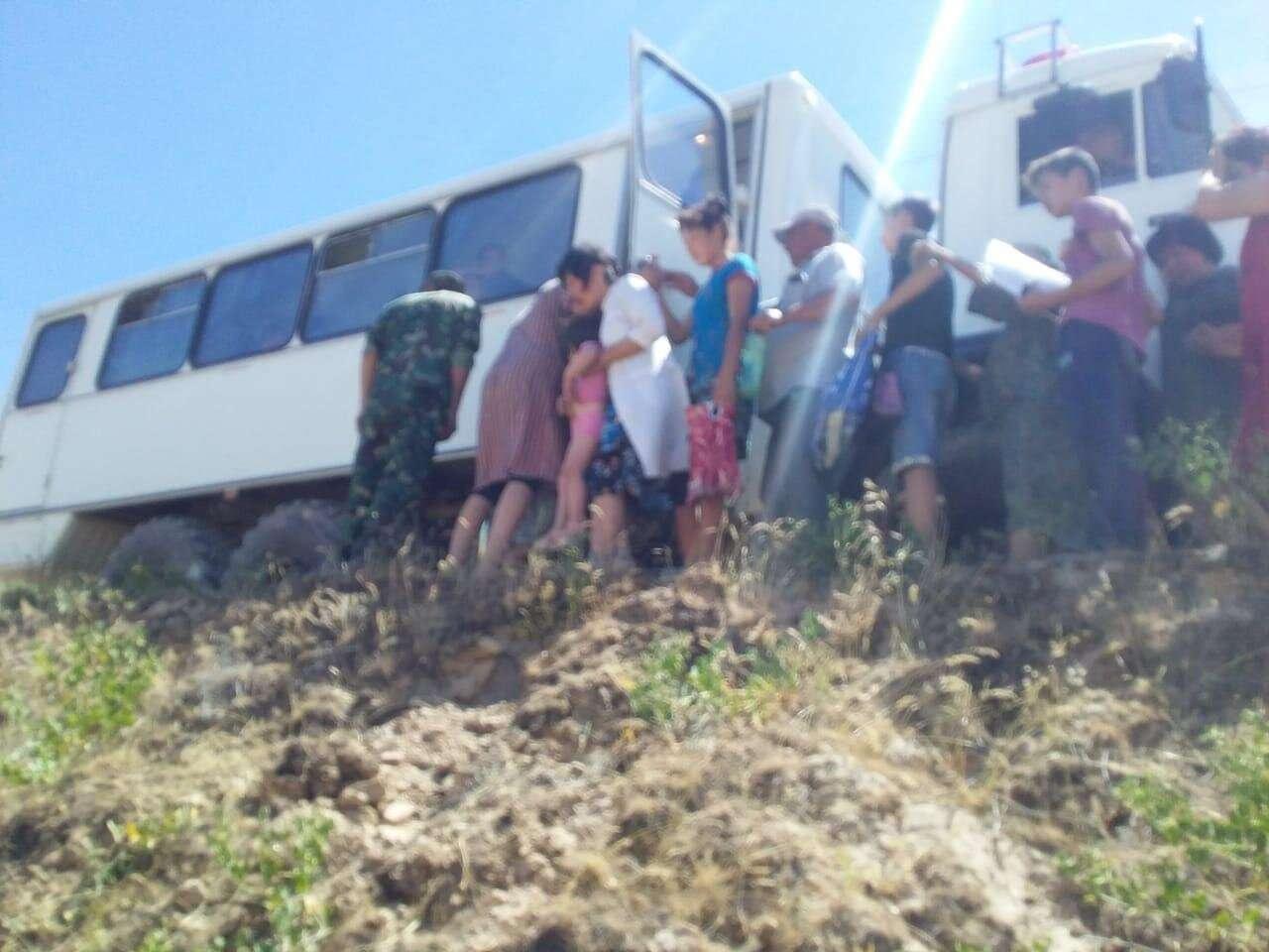 Эвакуация населения города Арысь
