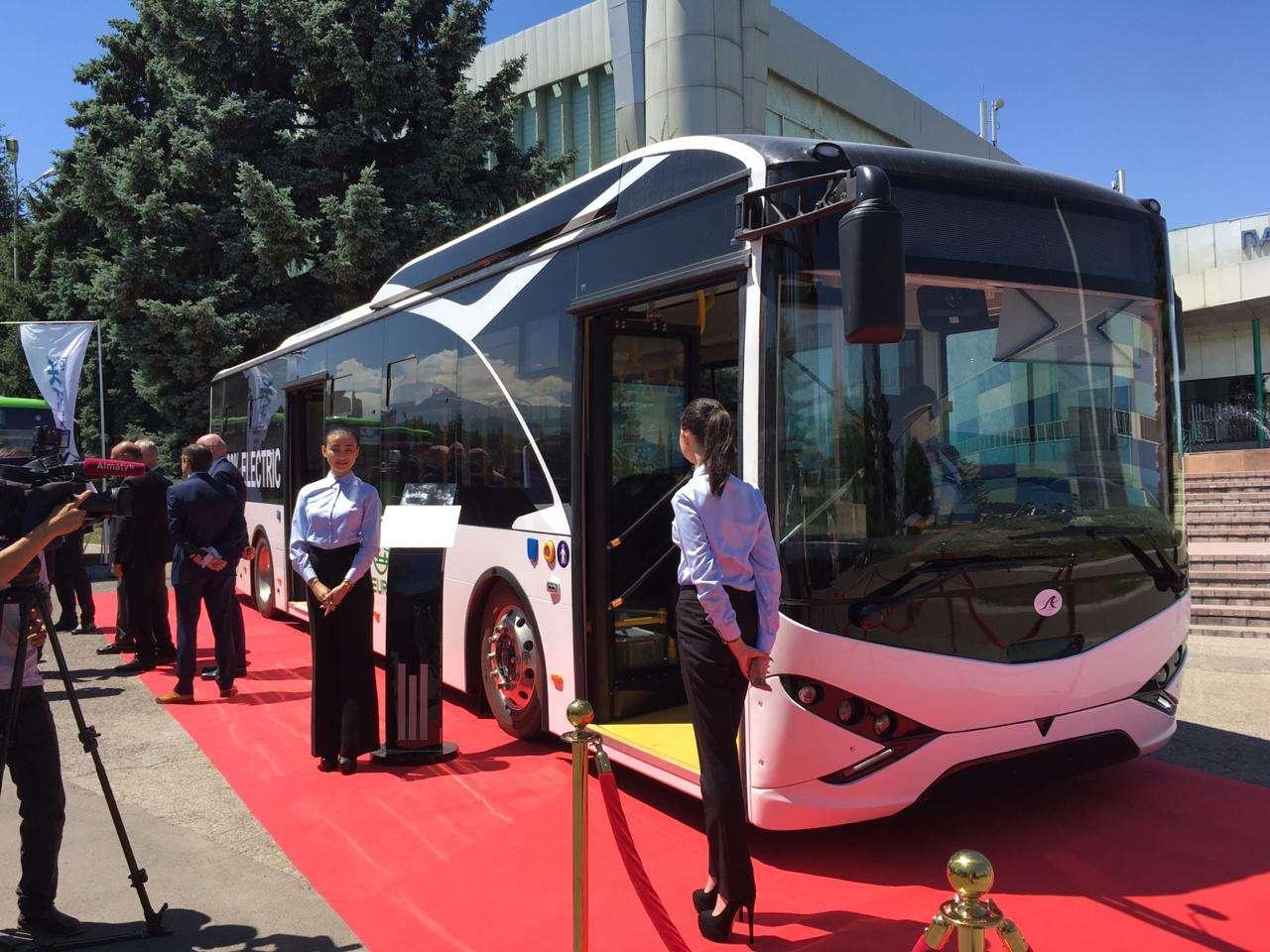 Новый электробус алматинского производства
