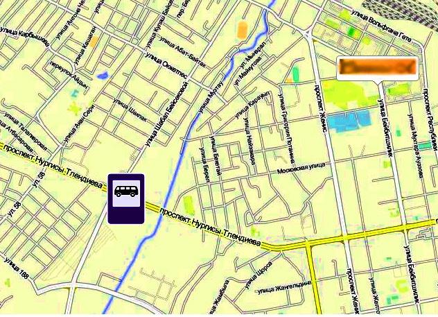 Место расположения нового автовокзала в Астане
